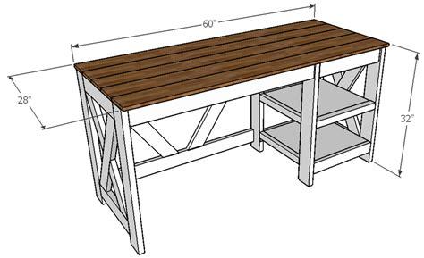 farmhouse  desk ana white