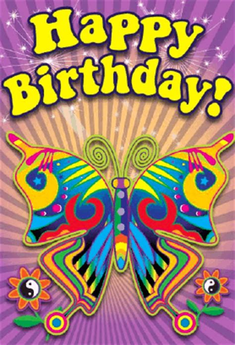 psychedelic birthday cards 60 s butterfly birthday card