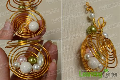 Korean Pearl Cardibolero Free Inner 1 pandahall free tutorial on how to make a wire wrapped