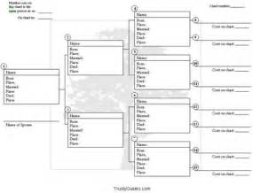 genealogy tree template printable genealogy forms