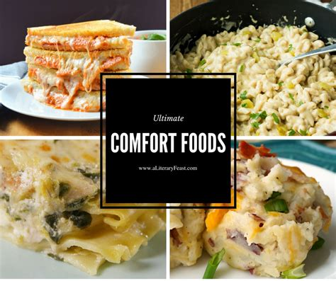 comfort foods weekly meal plan vii ultimate comfort foods a literary