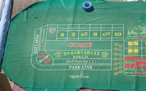 monte carlo las vegas casino authentic craps layout felt