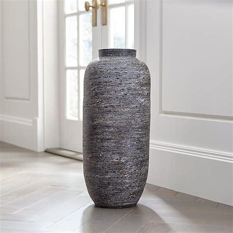 hm plant big floor vase timber grey floor vase reviews crate and barrel