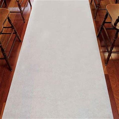 Wedding Aisle Runner Fabric by Wedding Aisle Runner Plain White 33g Non Woven Fabric