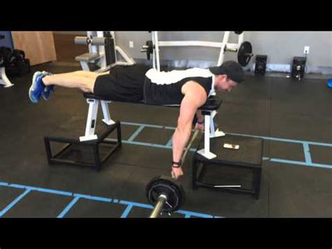 high bench two dumbbell rowing prone barbell row youtube