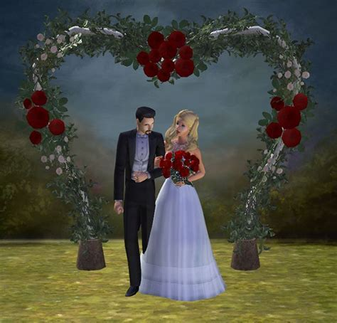 17 Best images about Sims 2 Weddings: Arches, Flower