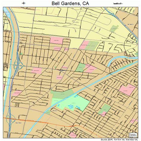 Bell Garden Ca by Bell Gardens California Map 0604996