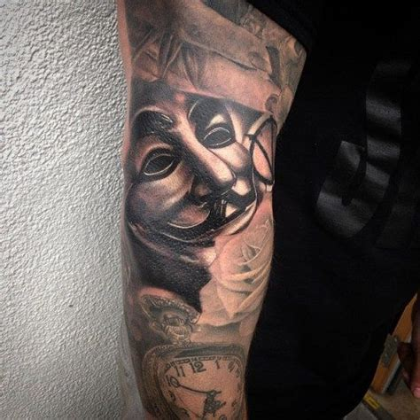 guy fawkes tattoo it s really interesting to see when a gap filler like
