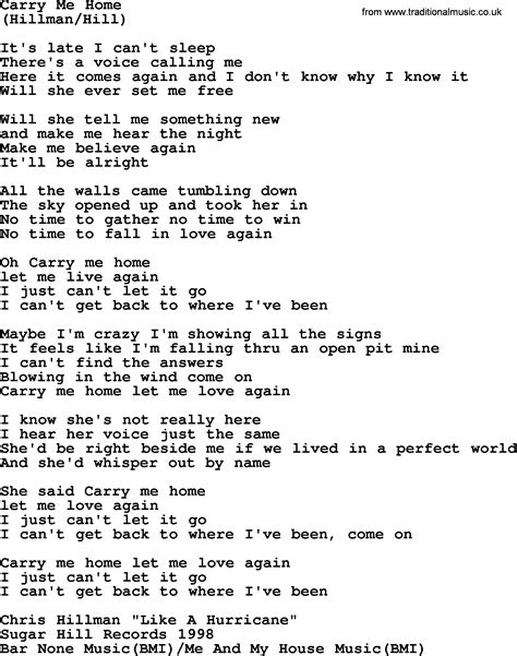 carry me home by the byrds lyrics with pdf