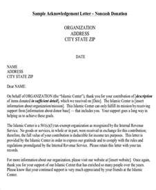 Acknowledgement Letter For Non Profits Sle Nonprofit Thank You Letter 6 Exles In Word Pdf