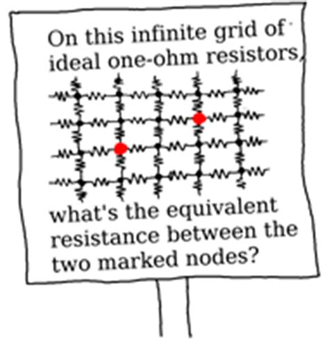 infinite grid of one ohm resistors infinite grid of resistors mbeckler org