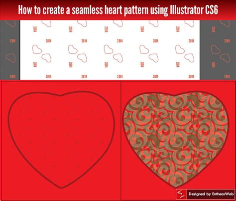 adobe illustrator how to make pattern swatches how to create a seamless heart pattern using illustrator