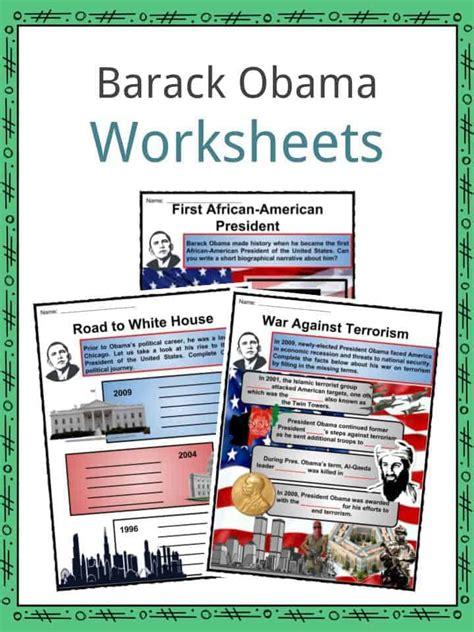 Barack Obama Biography 3rd Grade | barack obama facts biography information worksheets