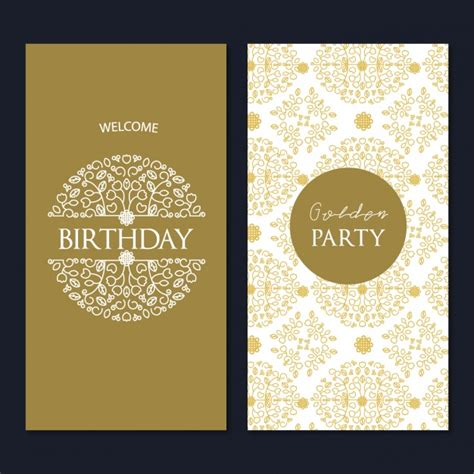 birthday card template design vector free download