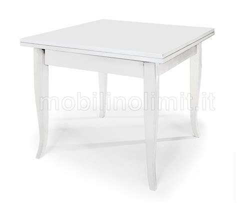 tavoli a libro tavolo allungabile a libro 100x100 bianco opaco