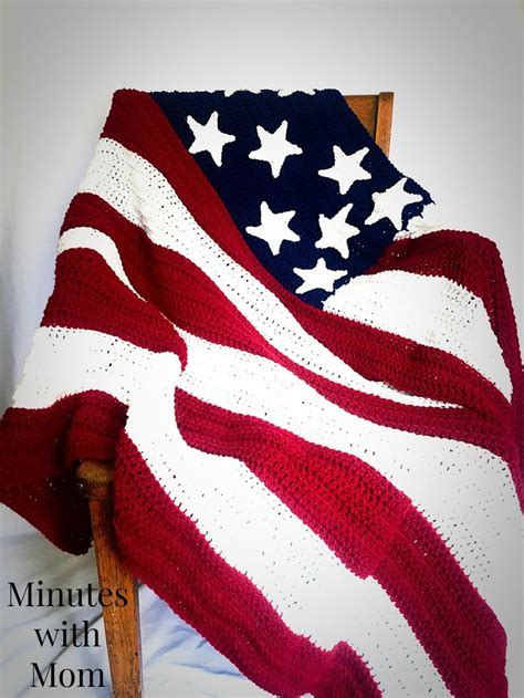 crochet pattern us flag america flag crochet blanket with free pattern american