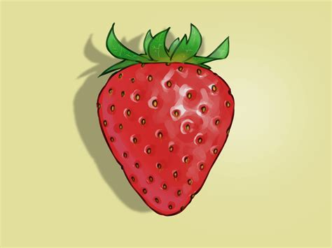 strawberry face shaped how to draw strawberries 11 steps with pictures wikihow