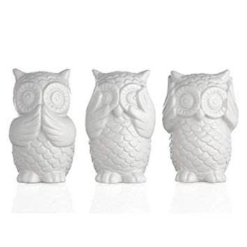 owl home decor accessories 3 wise owls decorative accessories from z gallerie