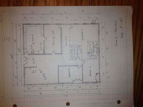 manually draft  basic floor plan