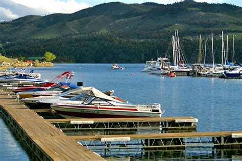 canyon lake cabin rentals with boat dock kim s marina and resort on canyon ferry lake in montana