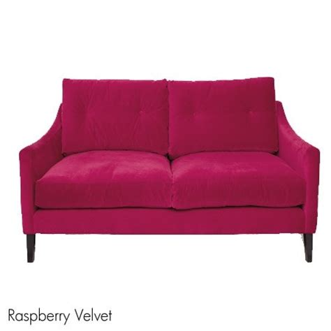 Velvet Sofa In Raspberry Home Furniture Pinterest