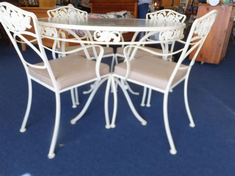 Wrought Iron Glass Top Table And Chairs by Lot Detail Luxury Wrought Iron Glass Top Table And Four