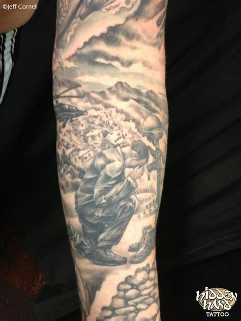 war memorial sleeve 3 hidden hand tattoo seattle wa