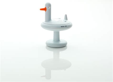 Yellow And White Kitchen - duck timer by eero aarnio for alessi