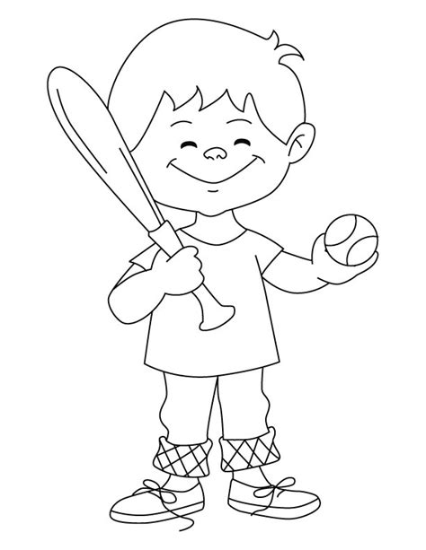 baseball boy coloring page baseball boy coloring page download free baseball boy