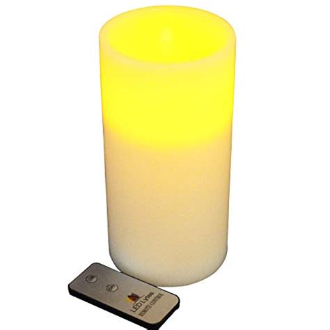 Large Flameless Candles With Remote by Real Wax Battery Operated Flameless Pillar Candle With