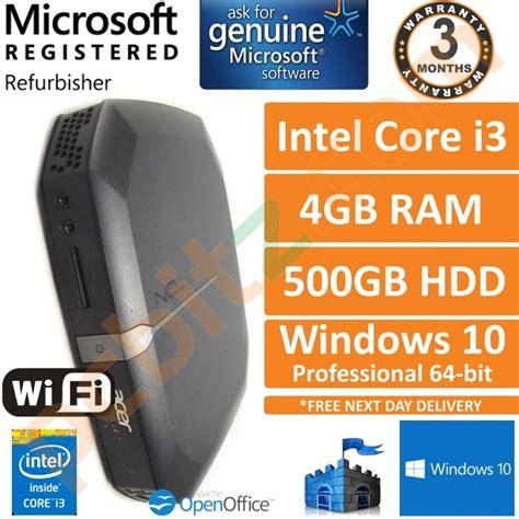 Pc 1 Intel I3 Intel H81 4gb 500gb Dvdrw Kb Ms 20 Dos acer veriton n4620g intel i3 2377m 1 5ghz 4gb 500gb win 10 media pc refurbished desktops
