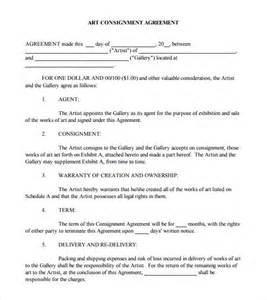 Free Consignment Agreement Template Consignment Agreement 9 Free Samples Examples Format