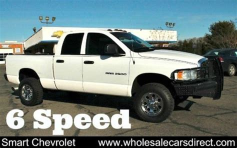 car owners manuals for sale 2004 dodge ram 1500 electronic valve timing sell used 2004 dodge ram 2500 6 speed manual cummins turbo diesel quad cab pickup 4x4 auto in