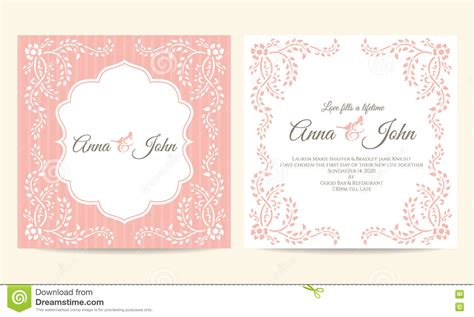 La Rosa Realty Cards Templates by Wedding Card Pink And White Creeping Plant Frame Vintage