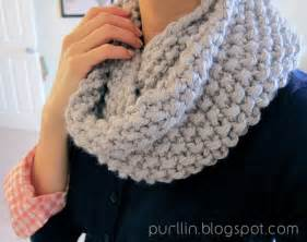 Knit Infinity Scarf Patterns Purllin December Seed Stitch Infinity Circle Scarf Free