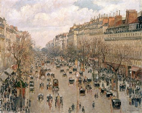 5 Boulevard Montmartre by File Camille Pissarro Boulevard Montmartre Jpg