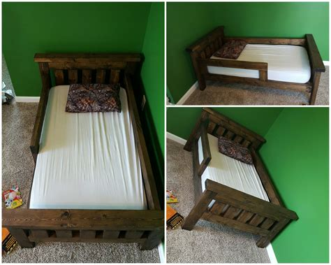 rustic farmhouse toddler bed built  ana white plans