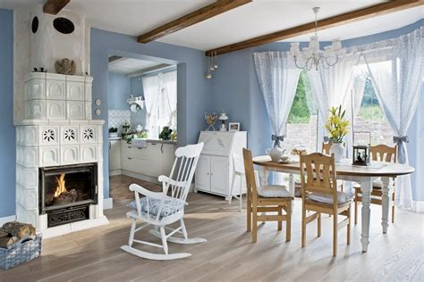Cottage Dining Rooms by Blue And White Country Home In Poland 171 Interior Design Files
