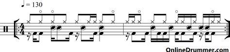 drum pattern funk funk rock fusion drum beat onlinedrummer com