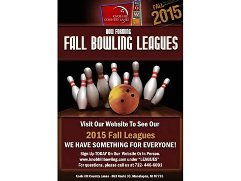 Knob Hill Bowling by Fall Bowling League Registration Now Available Freehold