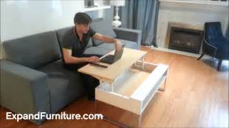 Storage Island Kitchen ultra convenient lifting coffee table raises to your lap