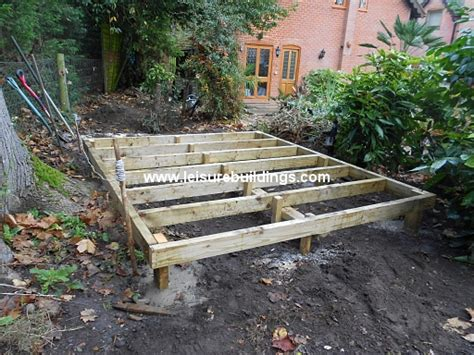 Diy Shed Base by Shed Plans How To Build A Shed Base On Uneven Ground How