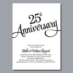 25th anniversary invitations templates 25th wedding anniversary invites 25th wedding