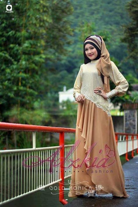 Baju Pesta Adzkia baju muslim gaya open po quot gold quot adzkia fashion