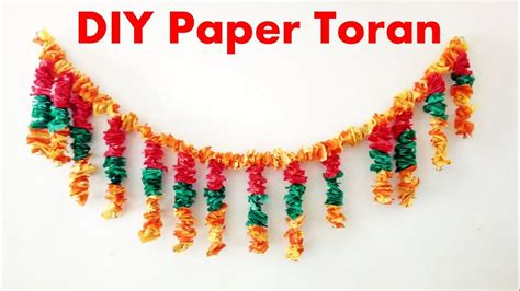 How To Make Toran With Paper - how to make toran wall hanging from paper tissue paper