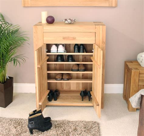 hallway cabinet with shoe storage palma solid chunky oak hallway furniture shoe storage