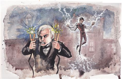 Erb Tesla Image Tesla Vs Edison Drawing Jpg Epic Rap Battles Of