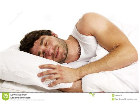 layed in bed man laid in white bed sleeping stock photo image 34854798