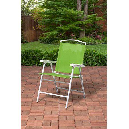 Folding Outdoor Chairs Walmart - outdoor folding sling chair green walmart