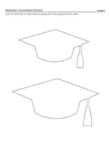 template of graduation hat paper crafts for graduaci 243 n